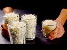 Неожиданно! Просто смешайте рис и творог! Гениальное сочетание вкуса и пользы в одном блюде! - YouTube Pint Glass, Deserts, Meals, Breakfast, Healthy, Tableware, Recipes, Food, Youtube