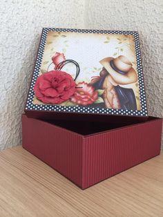 Caixa damas | Ateliê Miriam & Rose | Elo7