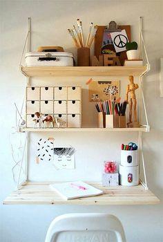 Ikea shelf desk