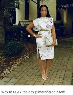 """At the """"Act Like a Lady, Think Like a Boss"""" networking event earlier today. Short African Dresses, Latest African Fashion Dresses, African Print Dresses, African Print Fashion, Chic Outfits, Classy Outfits, Fashion Outfits, African Traditional Dresses, African Attire"""
