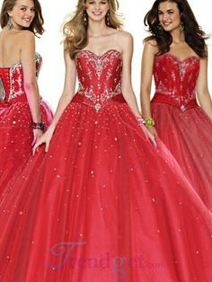 The perfect red prom dress