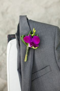 A great choice for the guy's boutonnieres Radiant Orchid Wedding Inspiration Wedding Reception Photos on WeddingWire Orchid Wedding Theme, Spring Wedding Flowers, Purple Wedding, Floral Wedding, Wedding Colors, Wedding Bouquets, Wedding Outfits, Grooms And Ushers, Groom And Groomsmen