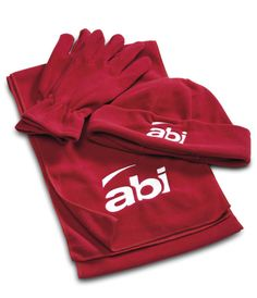 The Greenland Fleece Set Consists Of A Scarf, Beanie And Gloves Made From Brushed Fleece. The Set Comes In A Matching Non-Woven Drawstring Pouch. Corporate Outfits, Corporate Gifts, Promotional Clothing, Drawstring Pouch, Woven Fabric, Gloves, Beanie, Winter, Stuff To Buy