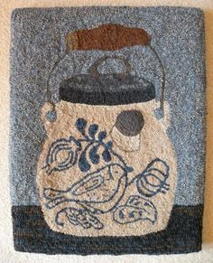 Rug Hooking Designs on Linen