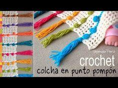 Colcha tejida en punto pompón a crochet - Tejiendo Perú - YouTube