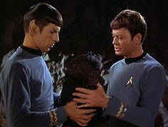 Teaching Spock how to hold a baby. OMG this is one of my favorite episodes