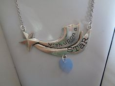 Wish upon a star necklace by TinkerGirlBoutique on Etsy