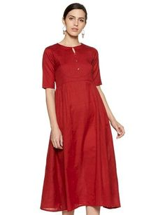 Care Instructions: machine wash Color: Maroon Cotton Machine wash A-Line Short sleeve Maxi A Line Shorts, Valentine Special, India Fashion, Sleeves, Cotton, Dresses, Indian Fashion, Vestidos, Dress
