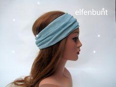 Stirnband, Haarband, Glitzerstrick, mint meliert von  Maria Elfenbunt auf DaWanda.com