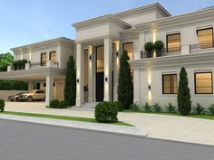 30 Surprising Information Regarding Dream House Exterior Mansions Luxury Entrance Exposed - walmartbytes Classic House Exterior, Classic House Design, Modern House Design, House Outside Design, House Front Design, Dream House Interior, Luxury Homes Dream Houses, Bungalow House Design, Modern Architecture House