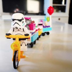 On his way to the party... #lego #starwars #stormtroopers #legominifigures by martijnvanluijn