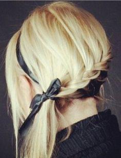 great hair Hair Styles for Girls Popular Hairstyles, Pretty Hairstyles, Girl Hairstyles, Braided Hairstyles, Style Hairstyle, Ribbon Hairstyle, Perfect Hairstyle, Hairstyle Wedding, Updo Hairstyle