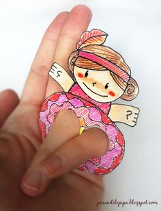 Finger Puppets: The girls can can