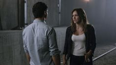 Elyes Gabel as Walter O'Brien and Katharine McPhee as Paige Dineen. S2E7