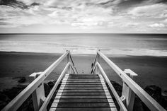It was a very nice day back in March This picture was shot in Hervey Bay near Fraser Island. Edited in Lightroom and Photoshop. Seaside Pictures, Sea Pictures, Beach Images, Black And White Beach, Sea Photo, Photo Black, Stairways, Lightroom, Free Images