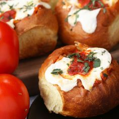 Cheesy Chicken Parmesan-Stuffed Rolls perfect party app