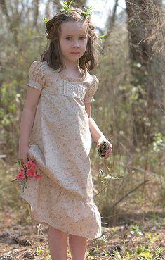 Empire dress two ways with patterns: These dresses are basically a short yoke on an A-line skirt with a puffed sleeve.  There are a few sewing tips at the end, but mostly this lesson just walks you through the design process.