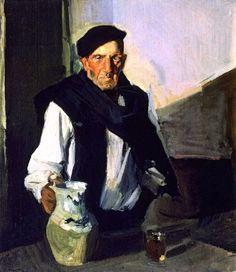 Basque Drinker - Joaquin Sorolla y Bastida Paintings Spanish Painters, Spanish Artists, Pierre Bonnard, Pierre Auguste Renoir, Claude Monet, Figure Painting, Painting & Drawing, Charles Gleyre, Paul Cézanne