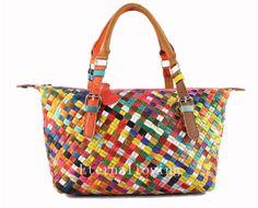 Leather handbag Woven bag shoulder bag real leather handbag Fashion girl's backpack Everyday bag fashion handbags