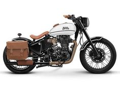 Royal Enfield Reveals Four Custom Builds - Royal Enfield bikes carry a singular character with the appeal of the bygone golden period. However whenever you add customisation to a Royal Enfield, the bike defies previous and boring styling cues. Enfield Bike, Enfield Motorcycle, Motorcycle Style, Motorcycle Accessories, Bobber Motorcycle, Custom Motorcycle Builders, Custom Bikes, Custom Builders, Bullet Modified