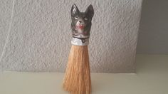 Vintage,German Shepard,Ceramic Dog head,Whisk Brush,Clothing Brush,German Porcelain,Antique Accessories,Marked 806,Vintage Brush,Dog Lover by AhNeatAhShop on Etsy