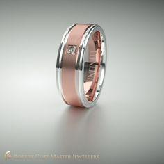 What do you think of this Infinity wedding ring #gents? We love the #diamond!  #weddingrings #forhim #wedding #diamond #gentlemen #groomtobe