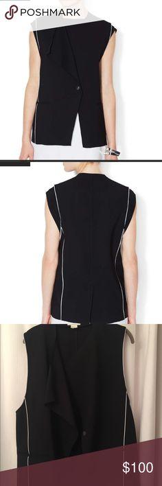 Helmet Lang Origami Black Vest Fabric: 49% virgin wool, 47% cotton, 2% elastane, 2% polyurethane Black with white trim Helmut Lang Other