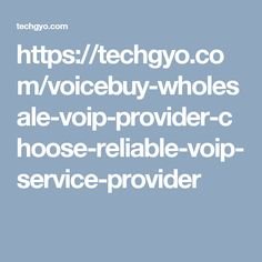 https://techgyo.com/voicebuy-wholesale-voip-provider-choose-reliable-voip-service-provider