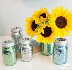 Diy Crafts Ideas : Mirrored Mercury Glass Mason Jar Crafts
