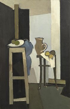 Keith Vaughan - Vertical Still Life Group formed friendships with the painters Graham Sutherland and John Minton, born 1912 died 1977