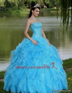 7db26f9e8df533 You can share these aqua dresses for quinceanera on Facebook