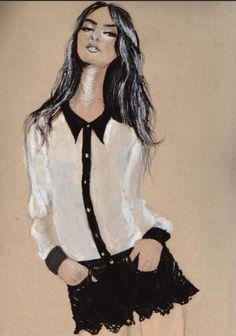 Fashion illustration - chic fashion drawing // Deanna Kennedy