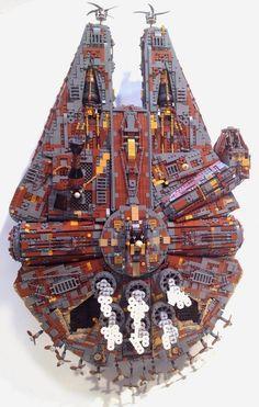 Halcón Milenario, Steampunk construido con piezas de LEGO