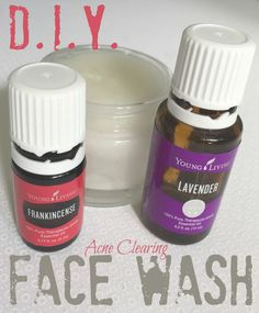 This DIY face wash uses coconut oil, baking soda and essential oils to naturally clear your acne. Yes, I'm serious! It works!
