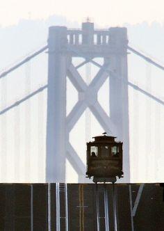 Bay Bridge & a cable car