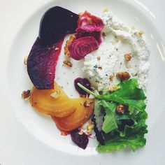 Fun times cooking a seasonal lunch amidst fabulous classic cars yesterday. Started with rainbow beetroot, thyme labneh and walnuts . . . #organic #slowfood #homegrown #allotment #allotmentlife #kitchengarden #privatechef #cotswolds #growyourown