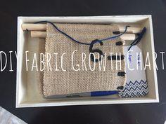 DIY Growth Chart #DIY #easy #growthchart #nosew #babygift