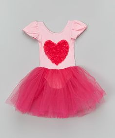 Look at this Pink & Fuchsia Floral Heart Tutu Dress - Toddler & Girls on #zulily today!