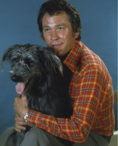 """Color portrait with Katie, one of many """"sweet dogs."""" Earl Holliman, Color Portrait, Navy Veteran, Famous People, Celebs, Singer, Actors, Pets, Sweet"""