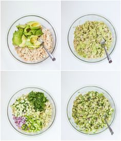 Healthy avocado tuna salad with creamy avocado fresh herbs cucumber red onion and lime juice No mayo and paleo friendly littlebroken Healthy Tuna Recipes, Healthy Tuna Salad, Healthy Cooking, Healthy Snacks, Healthy Eating, Dairy Free Tuna Salad, Tuna Salad Recipes, Simple Healthy Meals, Tuna Sandwich Recipes