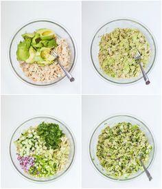 ... avocado tuna salad healthy avocado tuna salad with creamy avocado