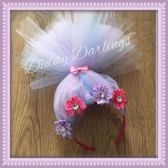 Satin and Chenille Head Piece, Hair Accessory. Trolls Hair. Perfect Accessory For Troll Dress! Available In All Colours. One size. Headband by DiddyDarlings on Etsy