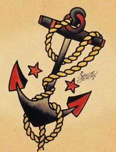 anchor tattoo by Sailor Jerry