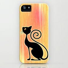 Black Cat Vintage Style Design iPhone & iPod Case by Bluedarkat Lem - $35.00