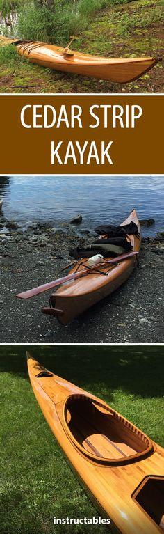 Cedar Strip Kayak  #woodworking #outdoors #summer