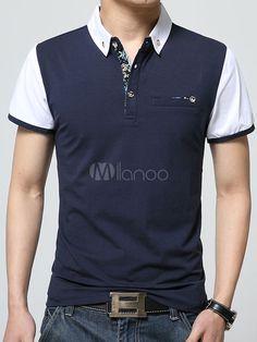Camisa Polo blanca camisa de Polo de algodón Chic para hombres. Playera ... 36cfc23eafeeb
