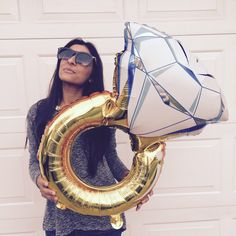 Engagement Ring Balloon - Bridal Shower Decor - Engagement Party Decor - Wedding…