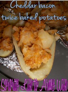 cheddar bacon twice baked potatoes more twice baked potatoes cheddar ...