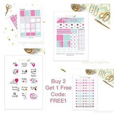 Buy 2 Get 1 Free on my Etsy shop with code: FREE1 #planneraddict #plannerlove #plannerstickers #erincondren #kikkik #filofax #stickerpromo #etsypromo #pgw #llamalove