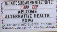 The Alternative Health Expo gave people a chance to learn about all aspects of alternative health. Organizers say 1,500 people attended, doubling the amount from last year.